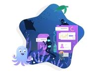 Concept hero Illustration for the Designway website