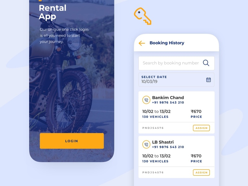 Rental - App for vendors to rent out vehicles by Renuka