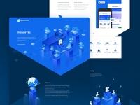 InsureTec home page design