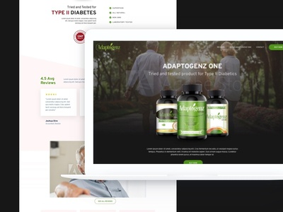Adaptogenz One home page design