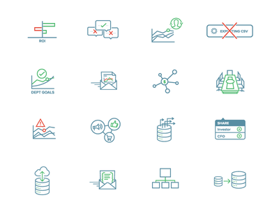 New Website Icons! icons analytics data