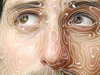 Self portrait line-work WIP