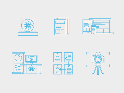 Skills/Services Icons icons iconography skill-set line-art