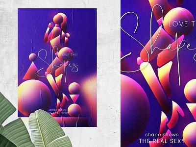 Poster - Love Shape poster art portrait prakashk illustraion poster poster design