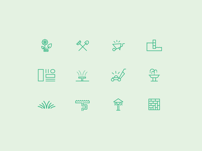 Valley West Landscapes Icons line icons iconography landscape branding icons website