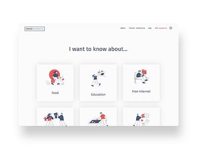 Covid Resources volunteer craftcms website design iris creative coronavirus website