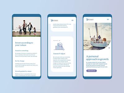 Etesian Wealth Advisors Mobile Site wealth management financial ui icons user interface design craftcms website design iris creative website