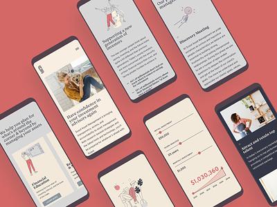 Scout Asset Management Mobile Screens finance website design user interface craftcms website design iris creative website financial services
