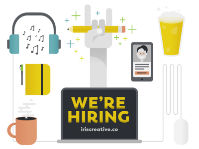 We're hiring a digital designer! job beer rockstar hiring