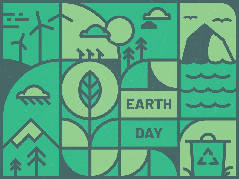 Earth Day renewable energy green environment  green design illustration iris creative cloud