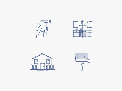 Rector Construction Icons remodeling paint house hammer blue icon construction icons icons construction company construction