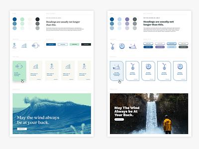 Etesian Wealth Advisors Style Tiles small business user interface style tiles finacial finance website web  design ui web design