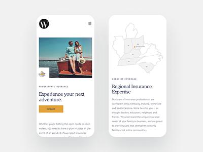 Wyatt Insurance Group website design insurance company website iris creative