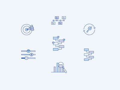 Etesian Icons user interface ui graphic design finance app website design branding design icons iconography wealth management financial advisor