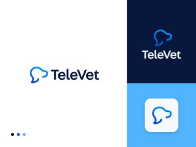 TeleVet branding illustration logo logo design