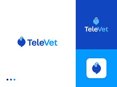 TeleVet Logo 3 illustration logo branding logo design