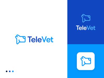 TeleVet 5 veterinarian pet vector logo design logo branding