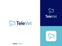 TeleVet 5 2x pet care veterinarian logo design logo branding