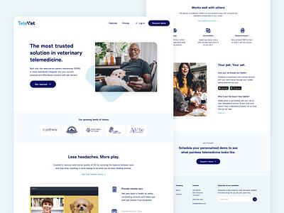 TeleVet website veterinarian telemedicine branding design ui landing page website design