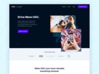 LoudCrowd Homepage landing page influencer marketing social media homepage design design website design