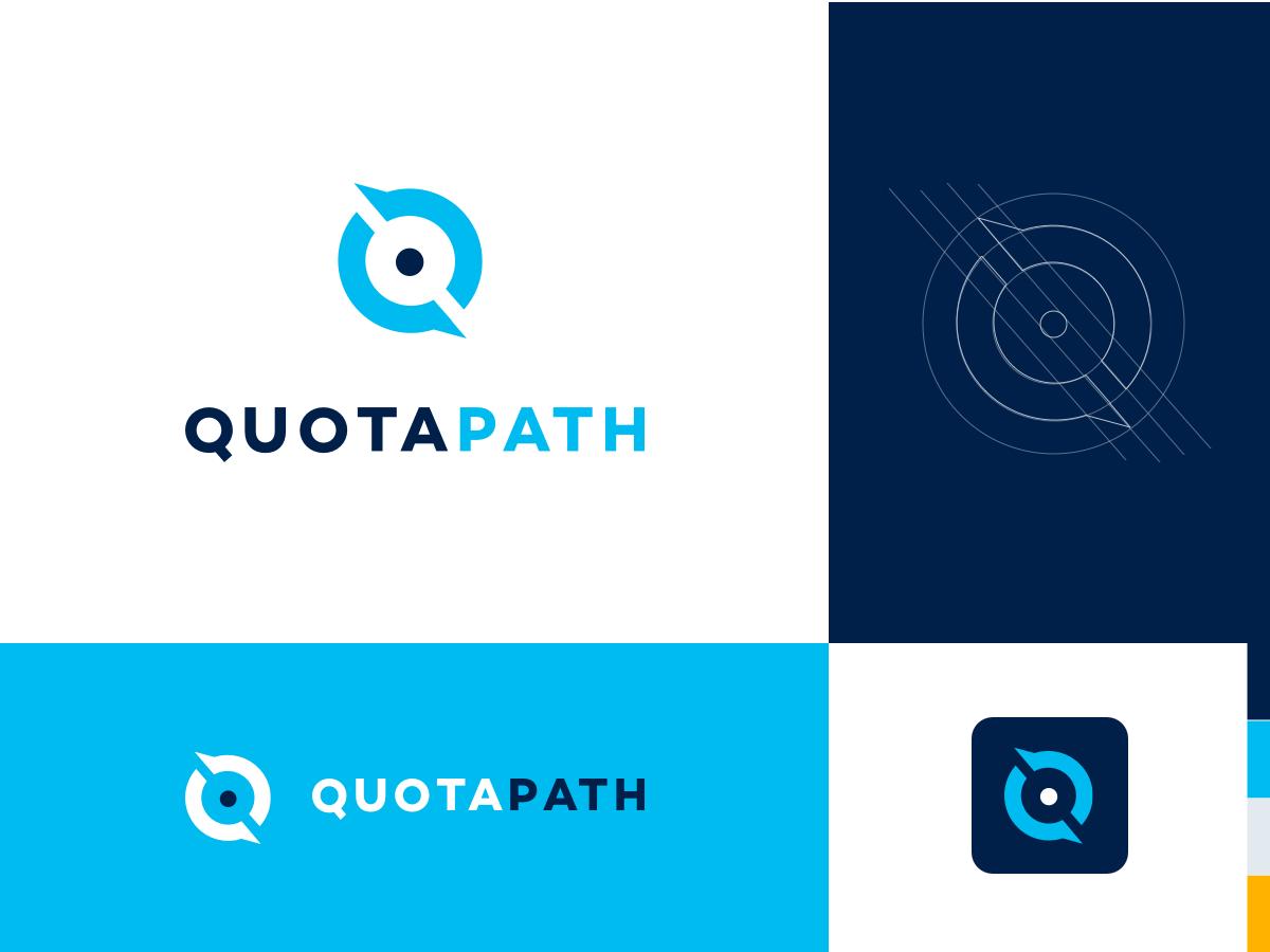QuotaPath logo branding and identity illustration logo