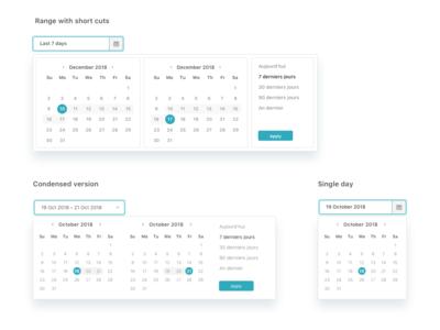 Date Pickers ui calendar design date picker