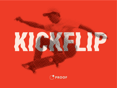 Kickflip poster poster skateboard illustration typography