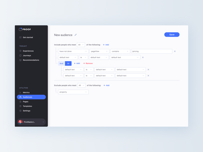 Filter Builder saas app segments builders builder filter
