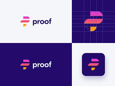 proof logo blueprint 2x branding design san serif gradient design logo design logo