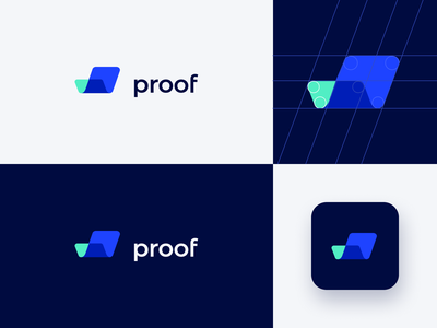proof logo exploration logo design blue aqua illustration branding