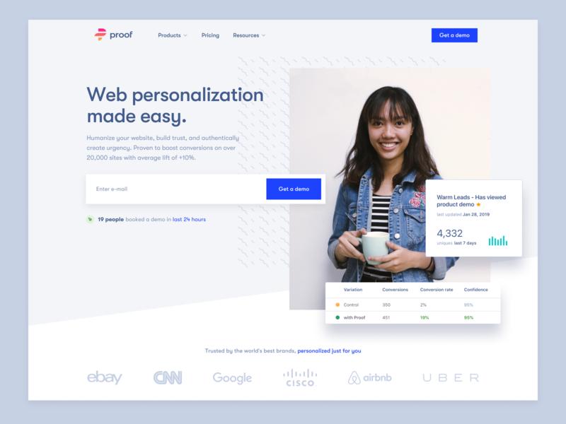 Proof homepage design branding home page website proof