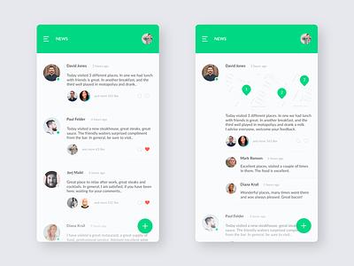 FindFood / News food ios minimal ux ui application mobile app design