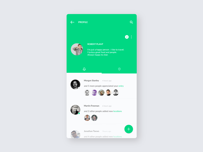 FindFood / Profile notification profile ux ui mobile minimal ios food application app design