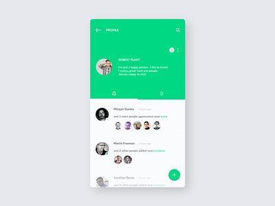 FindFood / Profile notification profile ux ui mobile minimal ios food application app design