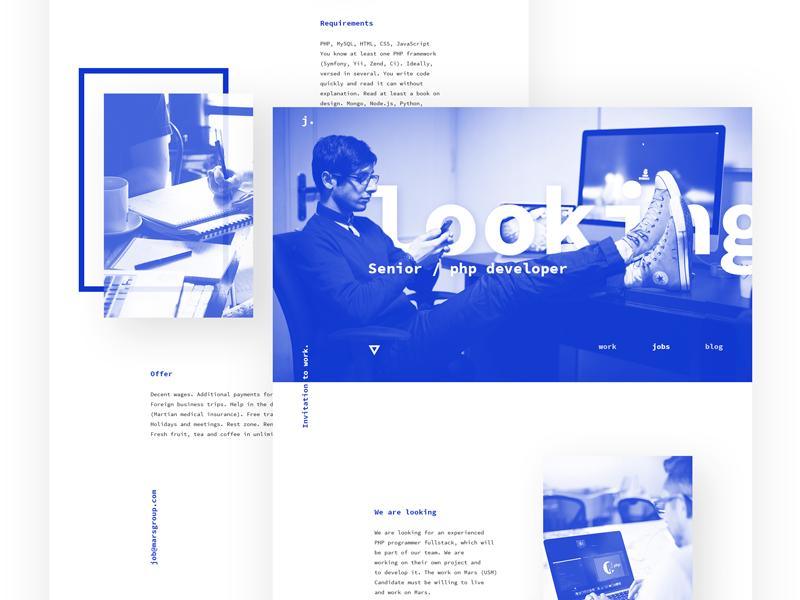 Your career / Website web minimal website design web design landing typography clean design site ui website