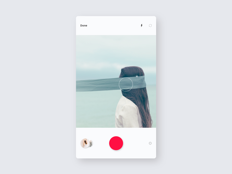 iTag / Camera app cam ux ui mobile minimal itag ios design concept application camera
