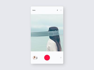 iTag / Camera app cam ux ui mobile minimal itag ios design concept application camera