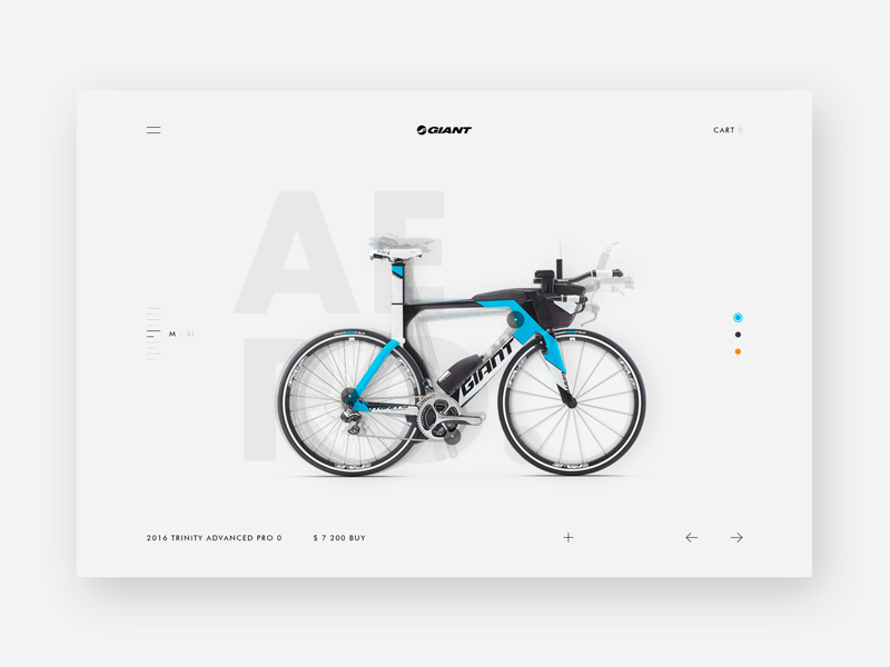 Giant Store product clean minimal shop bike design web ux ui website giant interface