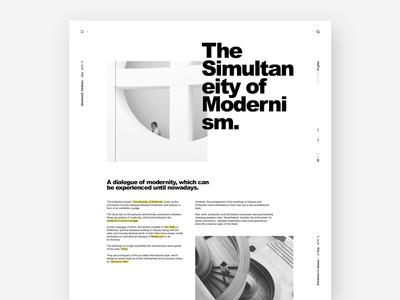 Bauhaus Dessau / Website ux ui minimal website web bauhaus design modern typography clean