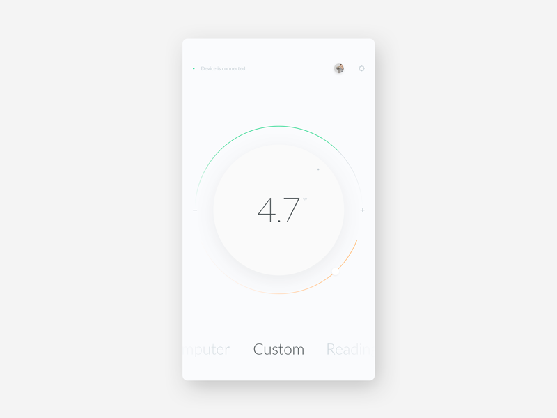 Smart Home / Lamp Control clean minimal interface app design ux ui lamp circle home smart remote