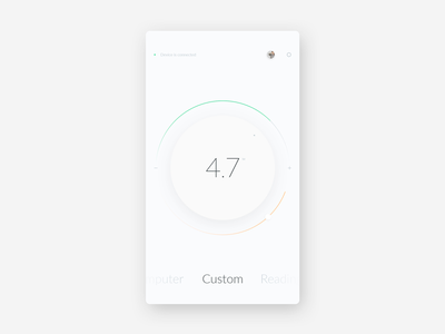 Smart Home / Lamp Control clean minimal interface app design ux ui lamp circle home smart remote
