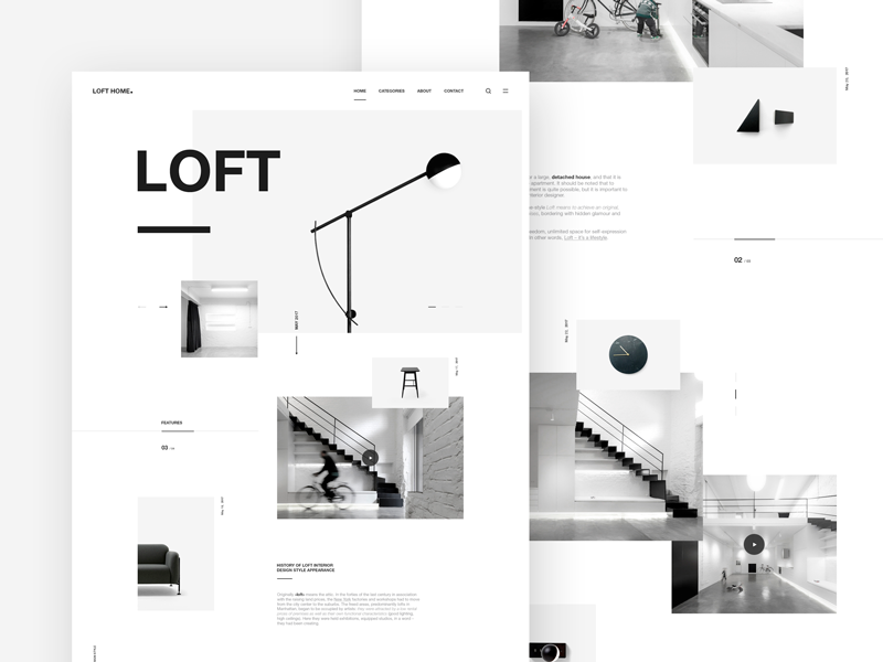 Loft. / Homepage loft minimal design typography webdesign clean ux ui website web landing