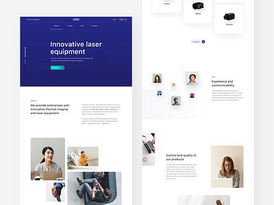Laser Components / About Us website webdesign web ux ui minimal aboutus page landing design clean
