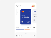 Banking app / Animation ux ui interaction product finance mobile payment minimal clean ios motion money wallet card banking design app animation