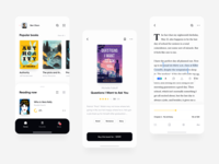 Reading App ux ui product mobile reading minimal ios store library design clean app books