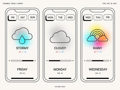 WEATHER APP MOCKUP app designer minimal app mobile app mobile app design app design app mobile uiux mobile ui weekly warm-up weekly challenge weeklywarmup