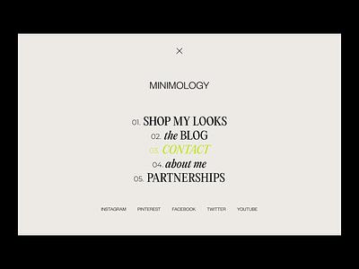 Full Screen Menu logo illustration design modern branding minimal typography webdesign typeface web design