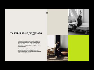 Minimology - Blog Style Template logo illustration design modern branding minimal typography webdesign typeface web design