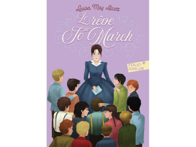 """La rêve du Jo March"" Gallimard Jeunesse colorful louisealcott littlewomen childrens book gallimardjeunesse illustration"