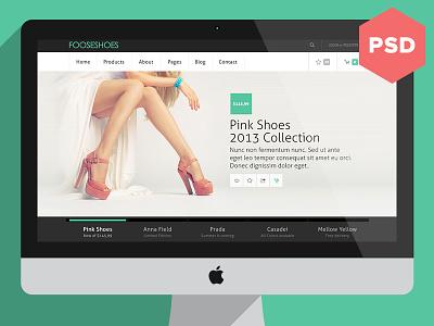 [PSD] eCommerce Theme freebie psd download theme wptheme ui layout webdesign ecommerce light green dark grey white